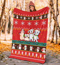 Load image into Gallery viewer, Bear Christmas Blanket