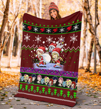 Load image into Gallery viewer, Red Fairy Tail Christmas Blanket