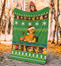 Load image into Gallery viewer, Lion King Christmas Blanket