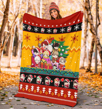 Load image into Gallery viewer, Red Yellow BTS Christmas Blanket