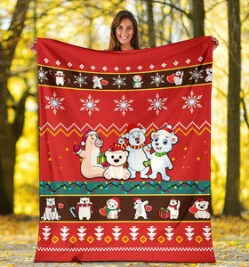 Bear Christmas Blanket