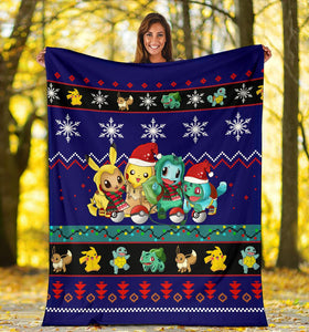Gearzime Pokemon Christmas Blanket