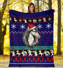 Load image into Gallery viewer, Unicorn Christmas Blanket
