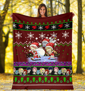 Red Fairy Tail Christmas Blanket