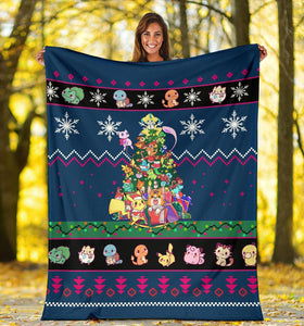 New Pokemon Christmas Blanket