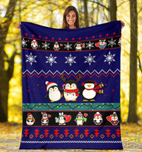 Load image into Gallery viewer, Penguins Blanket Christmas Blanket