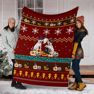 Halloween Golden Retriever Christmas Blanket