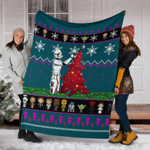 Load image into Gallery viewer, Starwars Blue Christmas Blanket