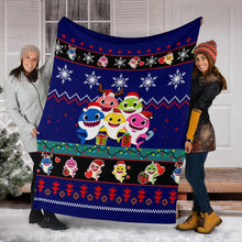 Load image into Gallery viewer, Baby Shark Christmas Blanket