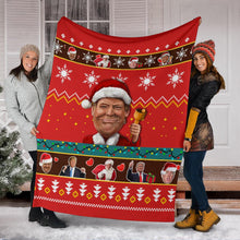 Load image into Gallery viewer, Donald Trump Christmas Blanket