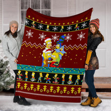 Load image into Gallery viewer, Simpson Family Christmas Blanket