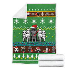 Load image into Gallery viewer, Star Wars Green Christmas Blanket