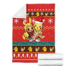Load image into Gallery viewer, Gearzime Pokemon Christmas Blanket Ugly Fleece