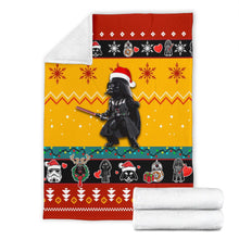 Load image into Gallery viewer, Star Wars Red Yellow Christmas Blanket