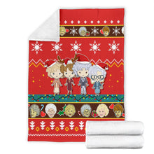 Load image into Gallery viewer, Red Golden Girls Christmas Blanket