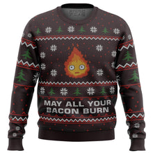 Load image into Gallery viewer, Ghibli May All Your Bacon Burn Premium Ugly Christmas Sweater