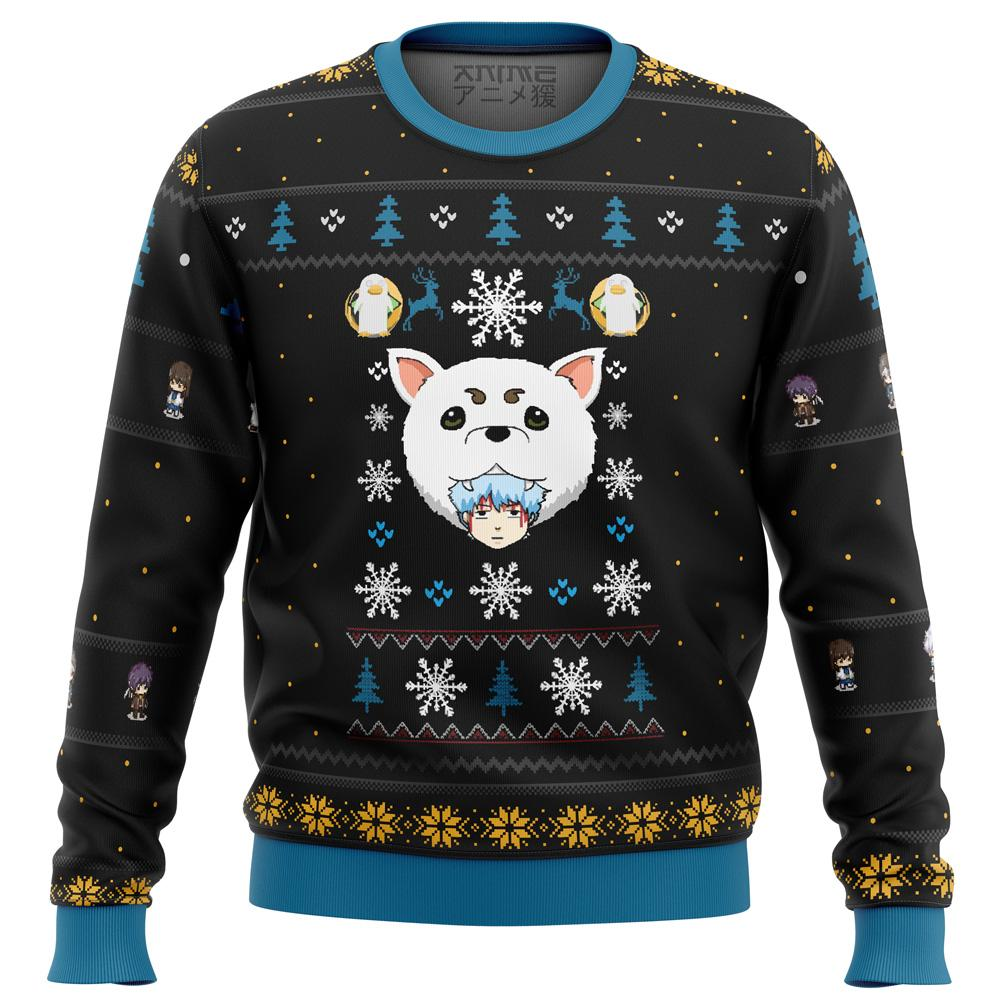 Gintama Woof Premium Ugly Christmas Sweater