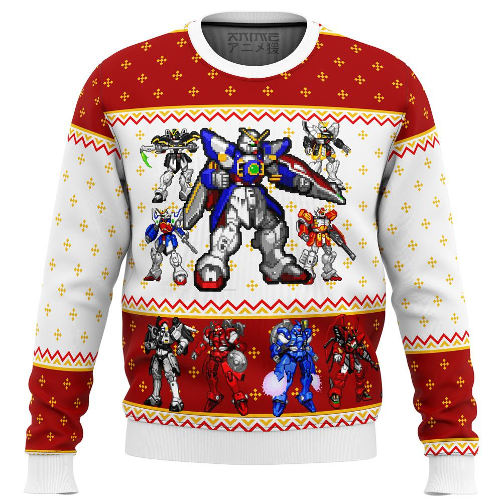 Gundam Wing Sprites Premium Ugly Christmas Sweater