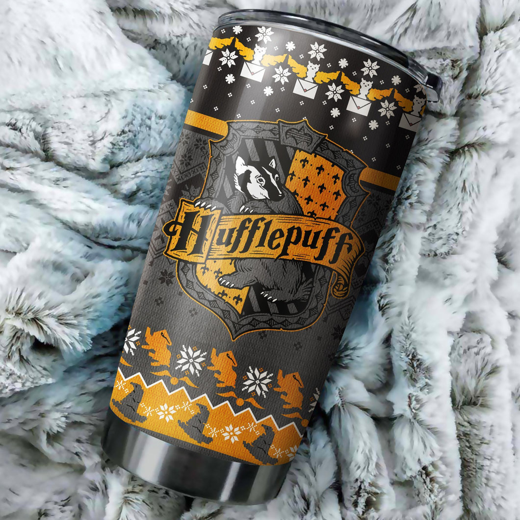 Harry potter hufflepuff Christmas tumbler perfect gift Stainless Traveling Mugs