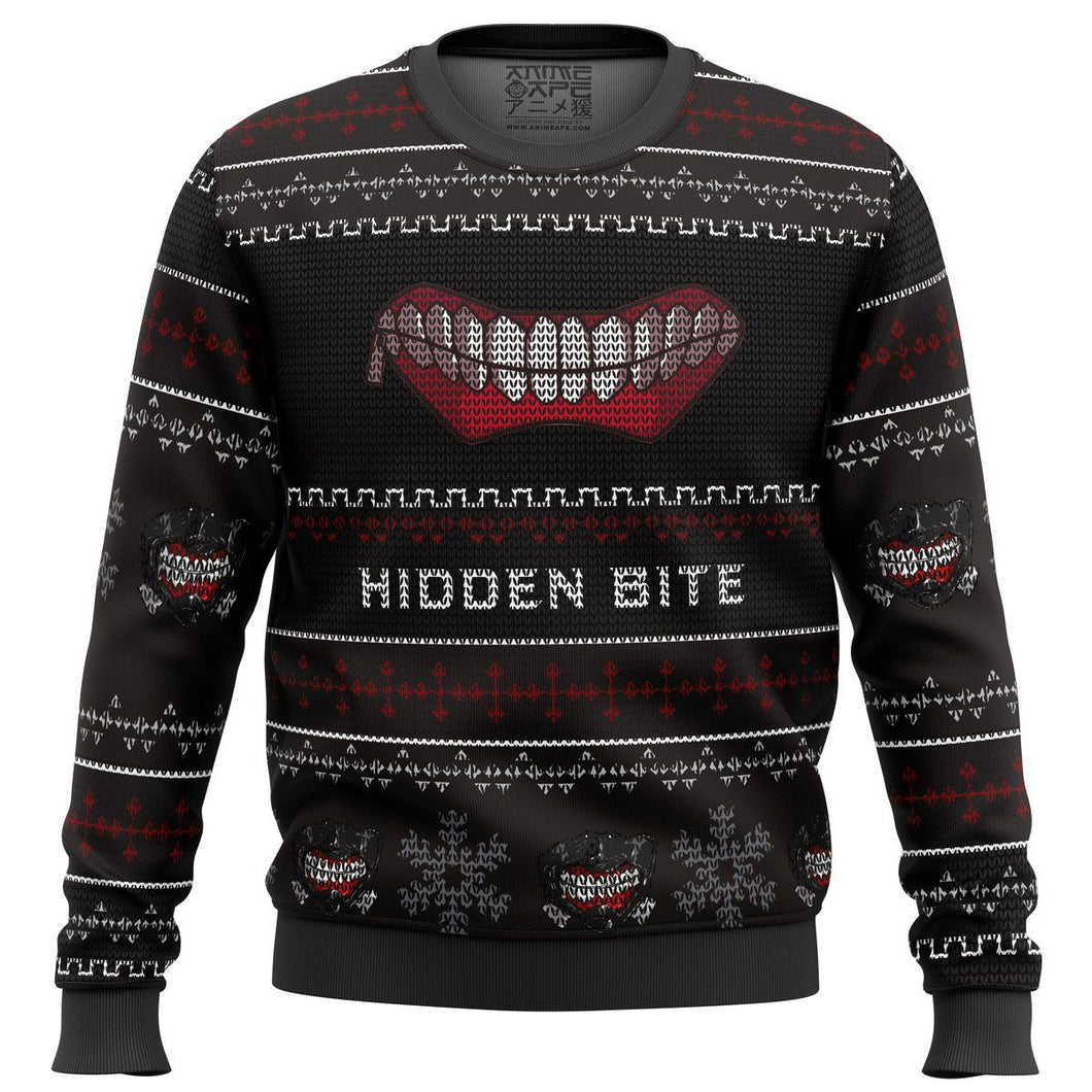 Hidden Bite Tokyo Ghoul Premium Ugly Christmas Sweater