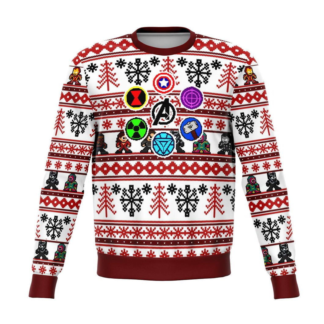 Marvel Avengers Retro Premium Ugly Christmas Sweater