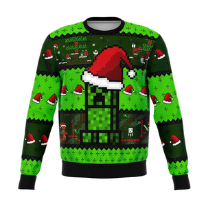 Minecraft Creeper Premium Ugly Christmas Sweater