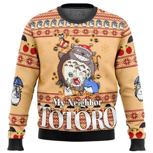 My Neighbor TOTORO Friends Premium Ugly Christmas Sweater