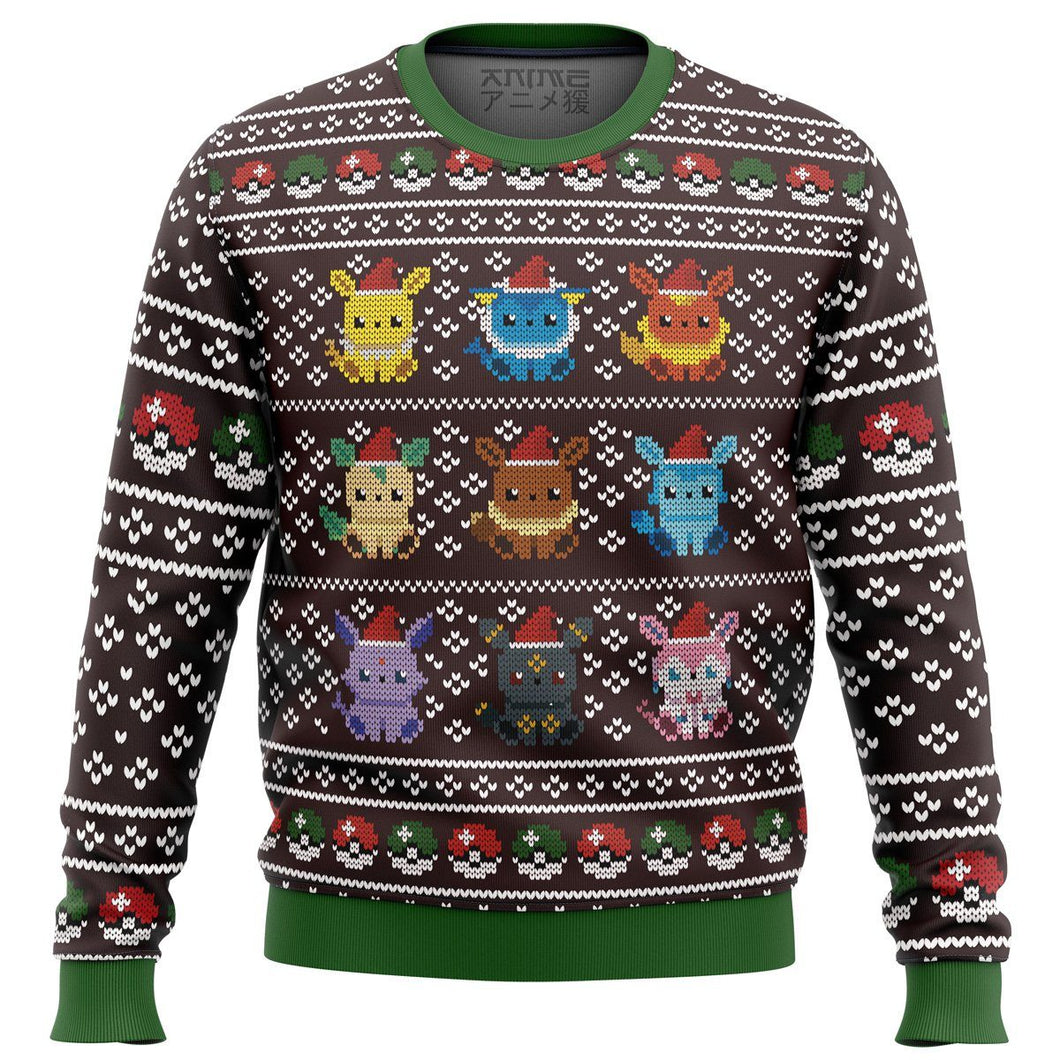 Pokemon Eeveelution Premium Ugly Christmas Sweater