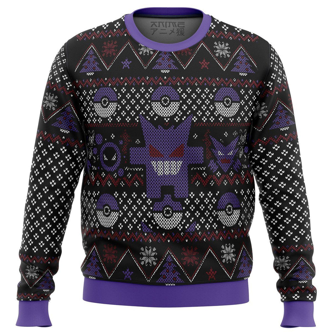 Pokemon Ghost Premium Ugly Christmas Sweater