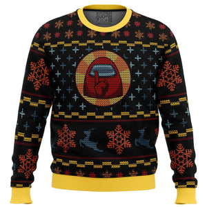 Shhhhhh Among Us Premium Ugly Christmas Sweater