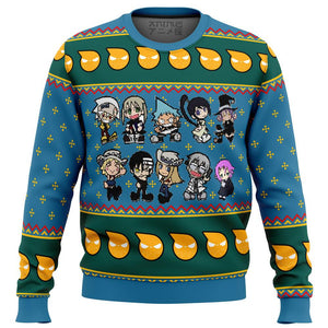 Soul Eater Chibi Premium Ugly Christmas Sweater