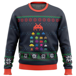 space invaders Premium Ugly Christmas Sweater