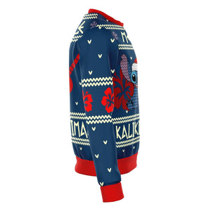 STITCH mele kalikimaka Premium Ugly Christmas Sweater