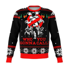 Load image into Gallery viewer, STRANGER THINGS who you gonna call Premium Ugly Christmas Sweater