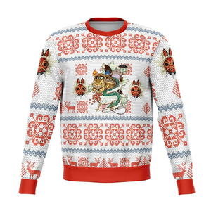 Studio Ghibli Light Premium Ugly Christmas Sweater