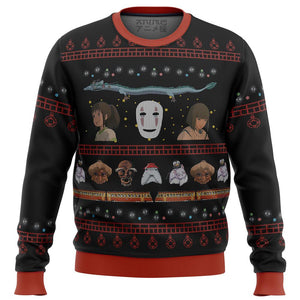 Studio Ghibli Spirited Premium Ugly Christmas Sweater