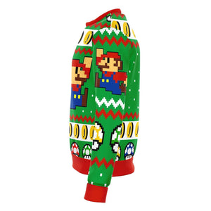 Super Mario Jump Premium Ugly Christmas Sweater