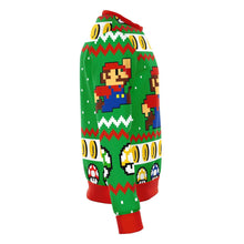 Load image into Gallery viewer, Super Mario Jump Premium Ugly Christmas Sweater