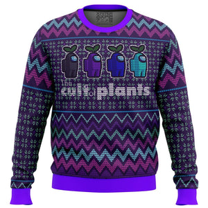The Cult of Plants Among Us Premium Ugly Christmas Sweater