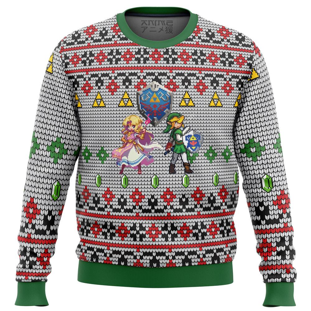 zelda and link Premium Ugly Christmas Sweater