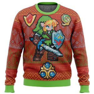 Zelda Link Gems Premium Ugly Christmas Sweater
