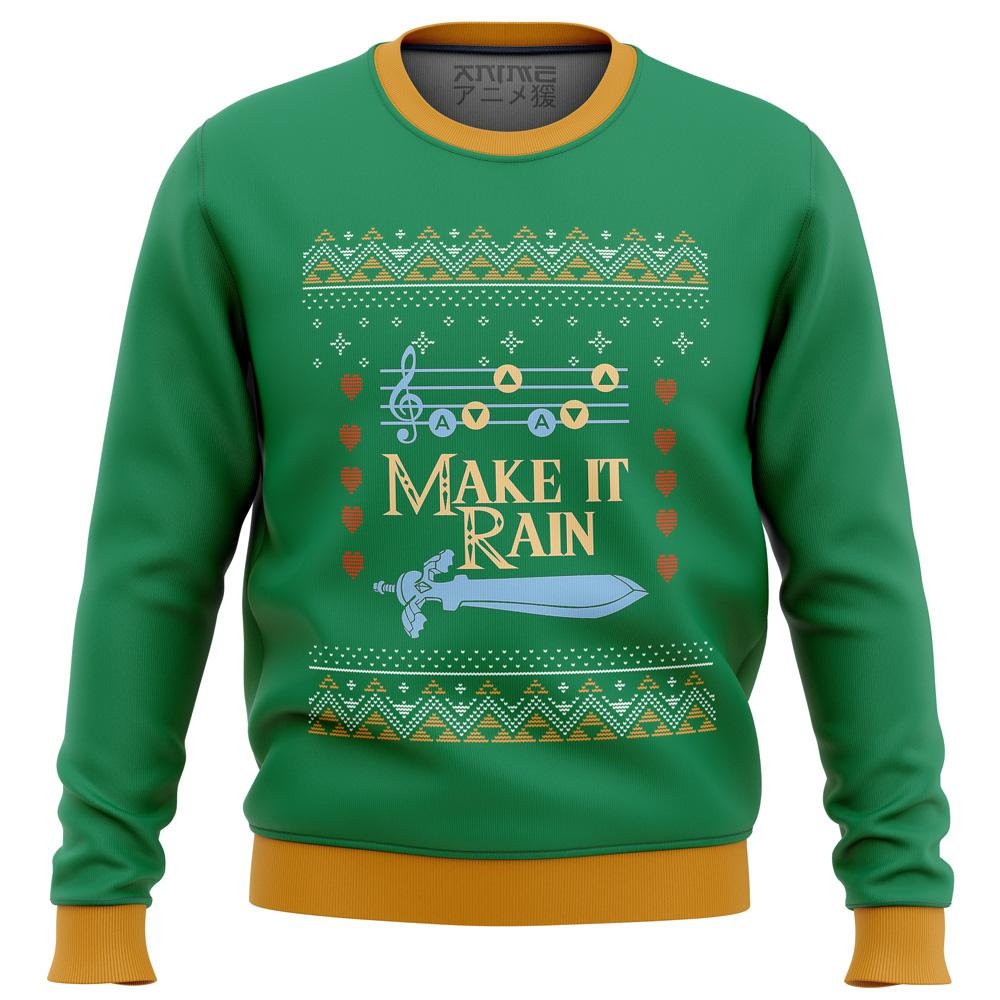 zelda make it rain Premium Ugly Christmas Sweater