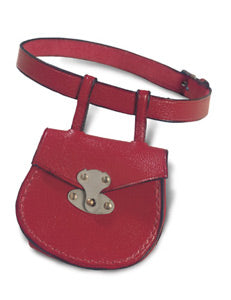 Bleuette's Red Leather Belt And Purse