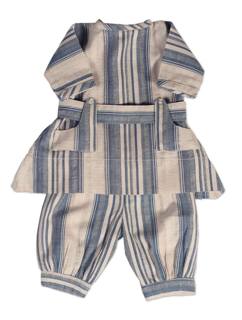 Blue & White Homespun Toddler Set