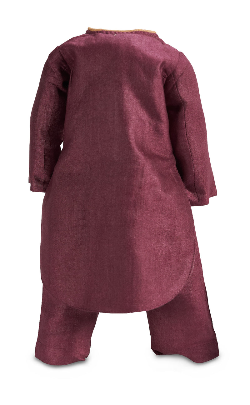 Plum Silk Three-Piece Ensemble