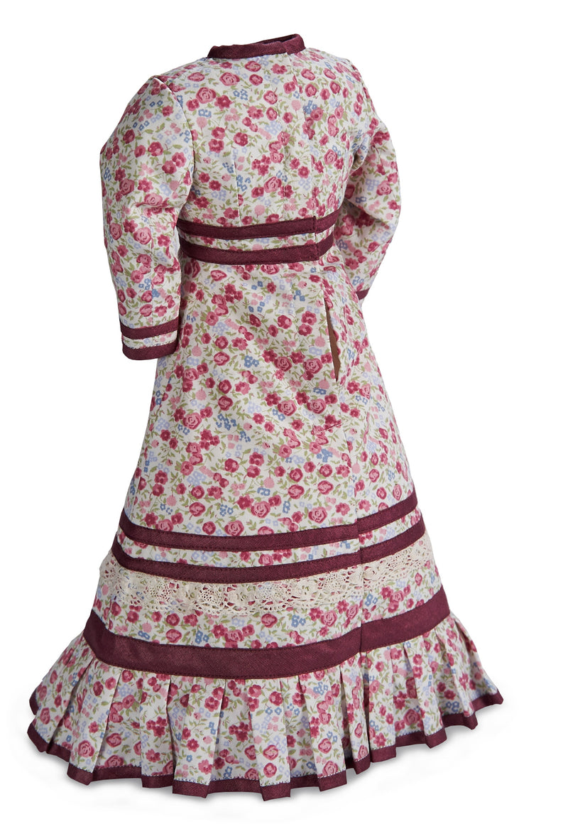 Cotton Dress With Silk Trim for Lady Doll