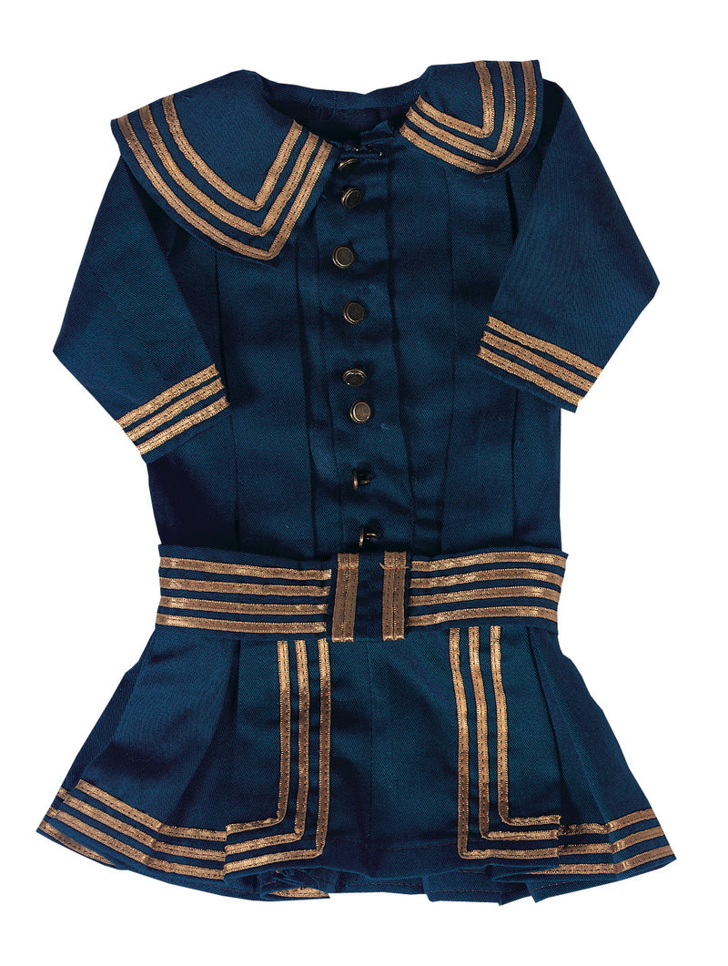 Twill Sailor Dress in Navy Blue