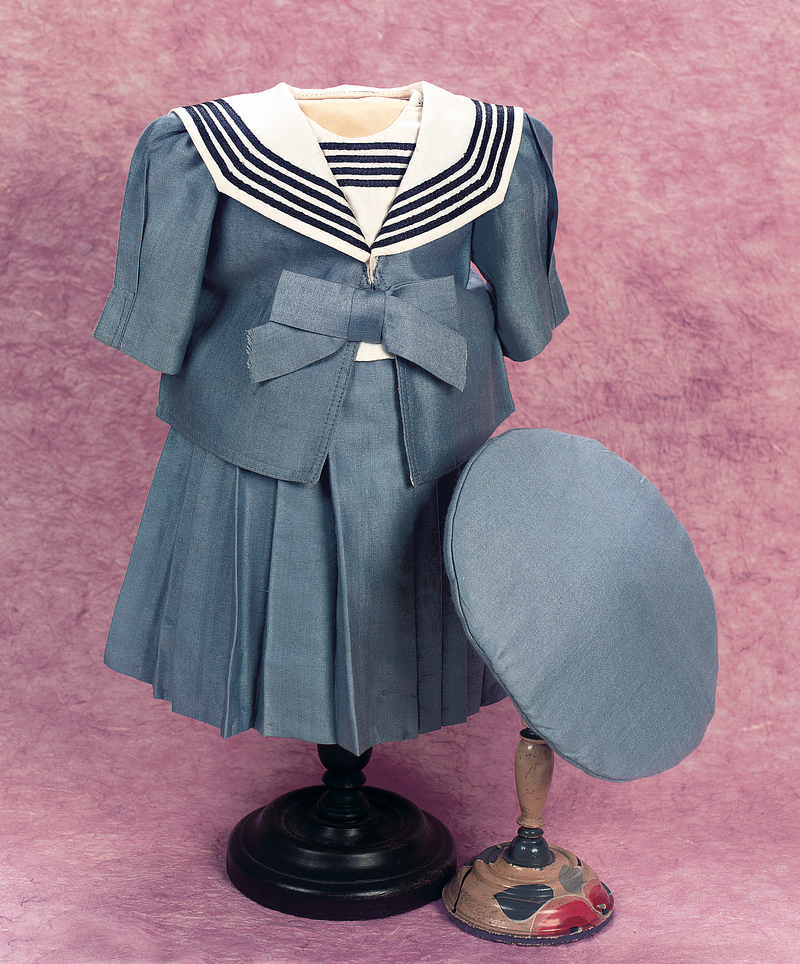Sky Blue Silk Three Piece Sailor Ensemble