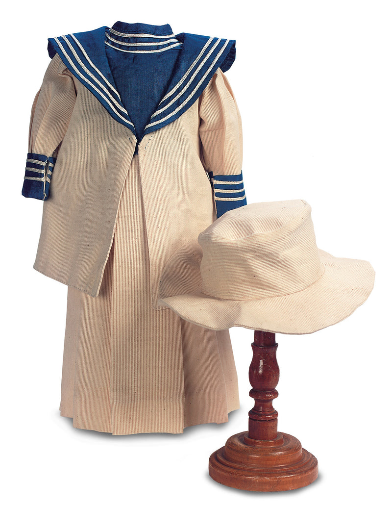 Home Spun Sailor Suit with Ice Blue Trim