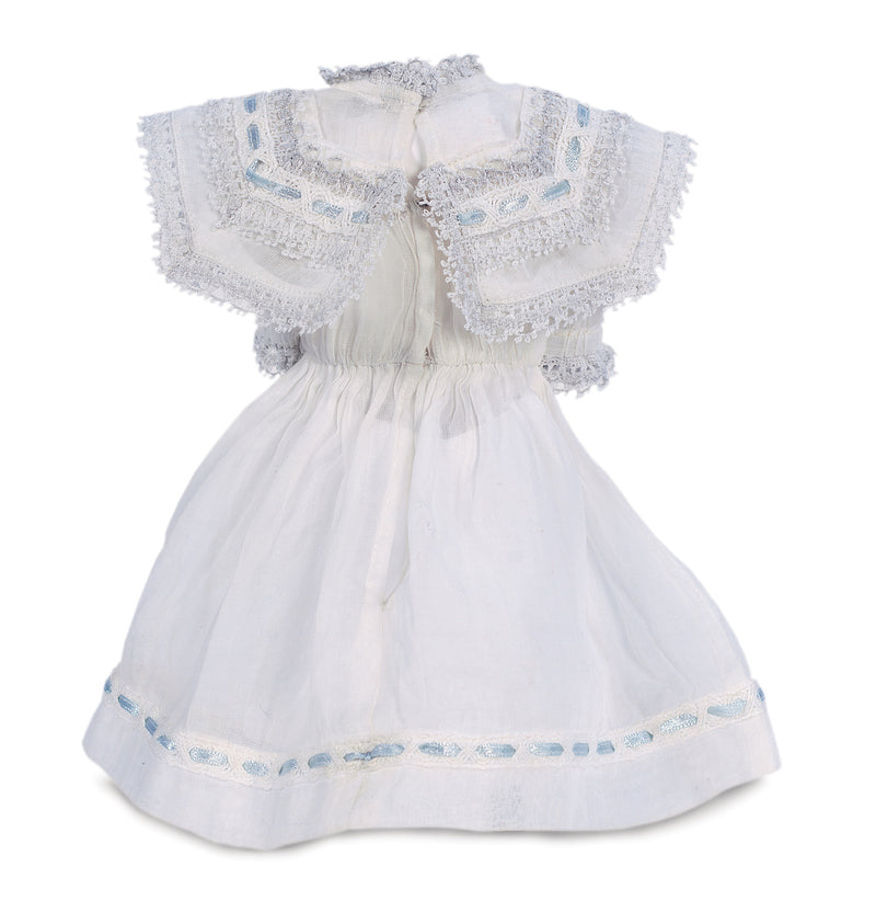 White Best Dress with Lacy Bertha Collar